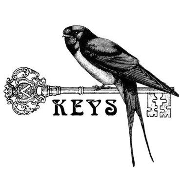 Swallow on Key Tattoo