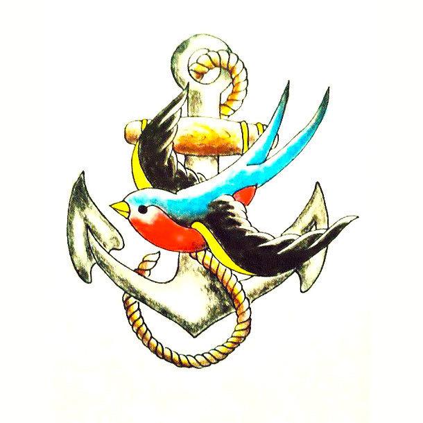 Swallow Sparrow Tattoo Design