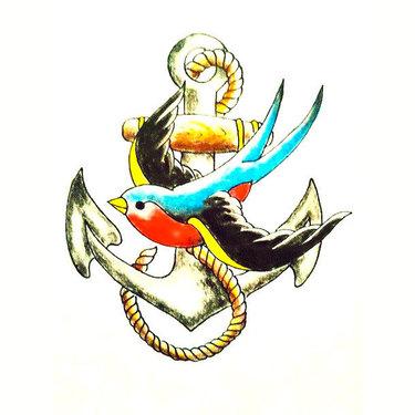 Swallow Sparrow Tattoo