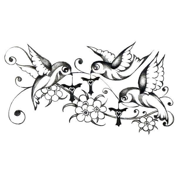 Three Little Birds Tattoo Design