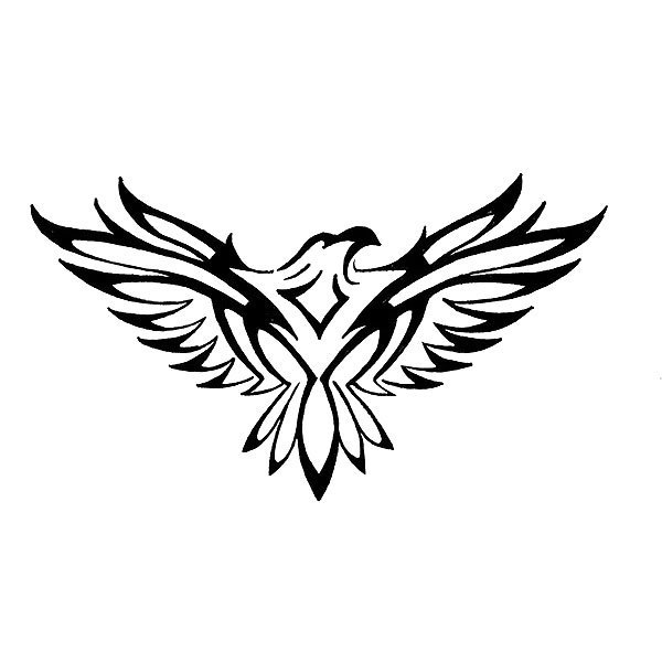Tibal Hawk Tattoo Design