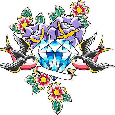 Traditional Diamond Tattoo
