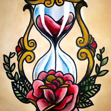 Traditional Hourglasses Tattoo