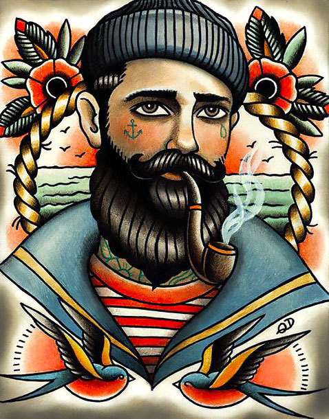 Traditional Navy Tattoo Design