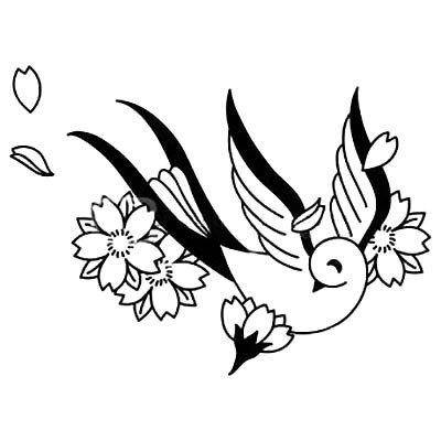 Traditional Songbird Tattoo Design