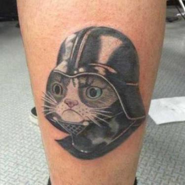 Dart Cat Tattoo