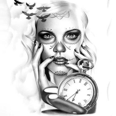Great Muerte Watch Tattoo