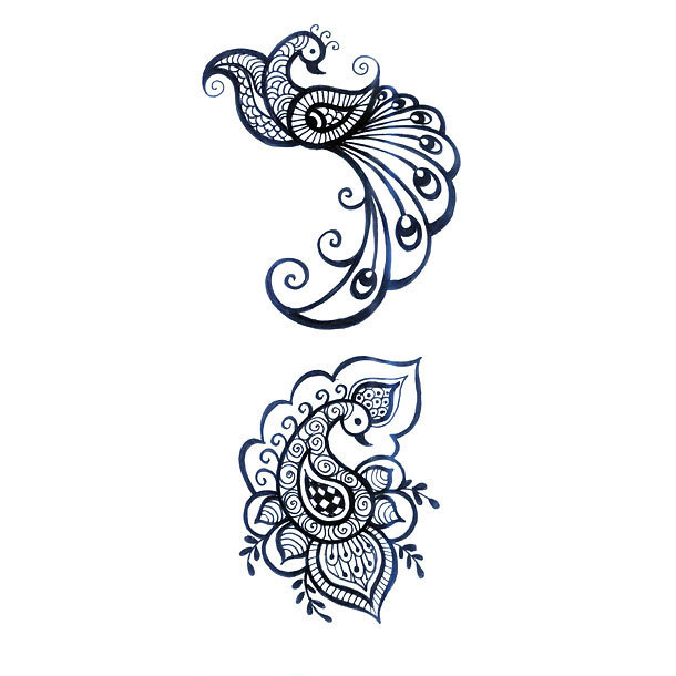 Great Peacock Tattoo Design