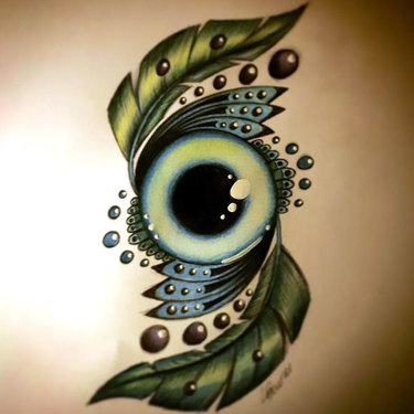 Green Eye Tattoo