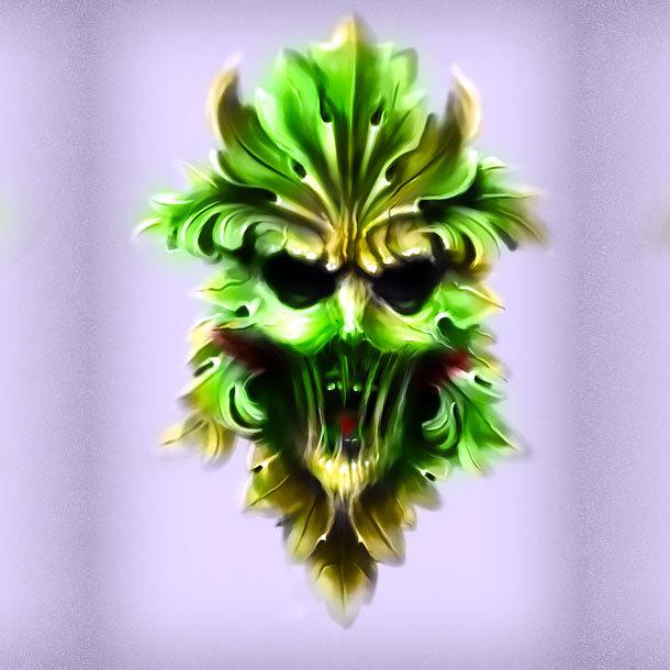 Green Man Tattoo Design