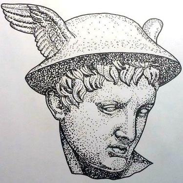 Hermes Dotwork Tattoo