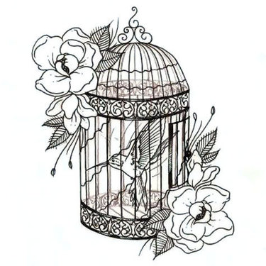 Hummingbird In Birdcage Tattoo