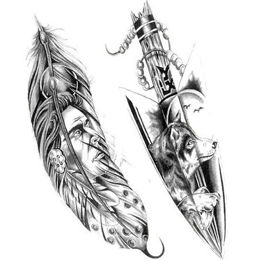 Indian Feather Arrow Tattoo
