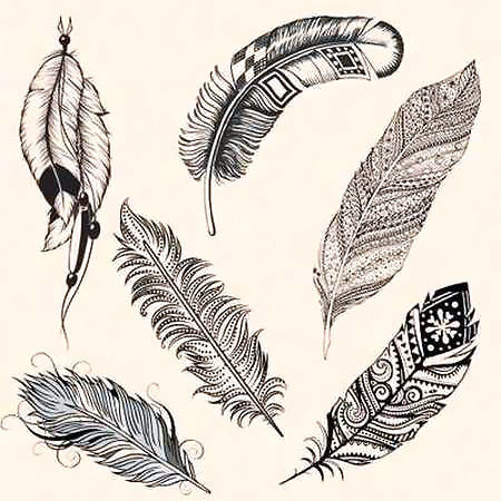 Indian Feathers Tattoo Design