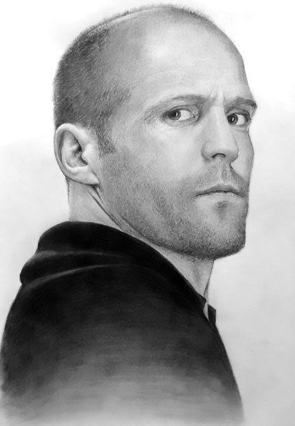 Jason Statham Portrait Tattoo Design