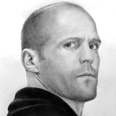 Jason Statham Portrait Tattoo