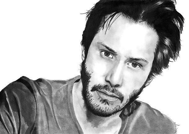 Keanu Reeves Portrait Tattoo Design