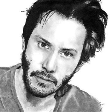 Keanu Reeves Portrait Tattoo