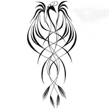 Line Phoenix Tattoo