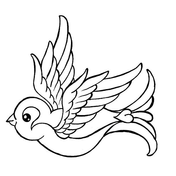Lovely Swallow Tattoo Design
