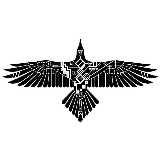 Modern Thunderbird Tattoo Design