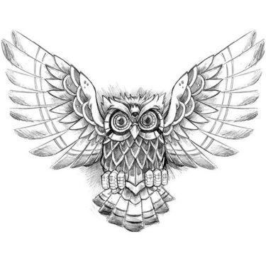 Mystic Owl Tattoo