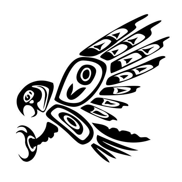 Native American Hawk Tattoo Design