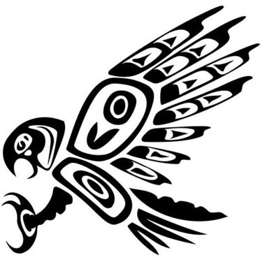 Native American Hawk Tattoo