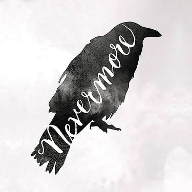 Nevermore Raven Tattoo