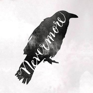 Nevermore Raven Tattoo