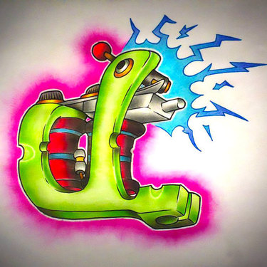 New School Tattoo Machine Tattoo
