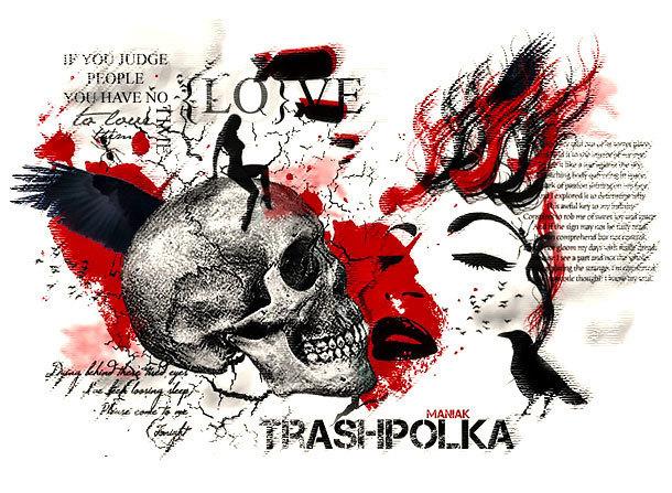 Trash Polka Tattoo Art Tattoo Design