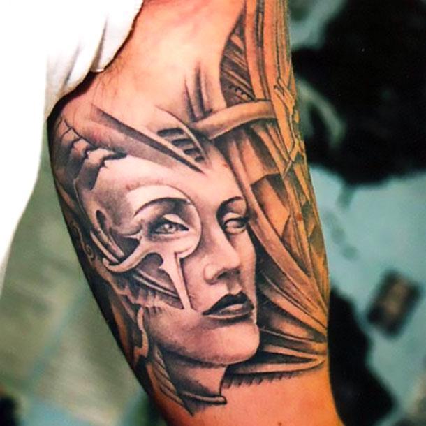 Bicep Men Tattoo Idea