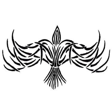 Tribal Crow Tattoo