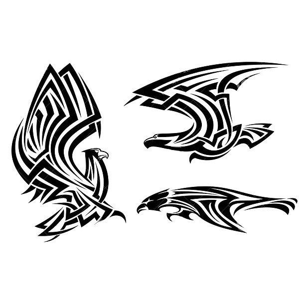 Tribal Hawks Tattoo Design