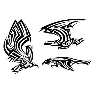 Tribal Hawks Tattoo