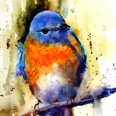 Watercolor Bluebird Tattoo
