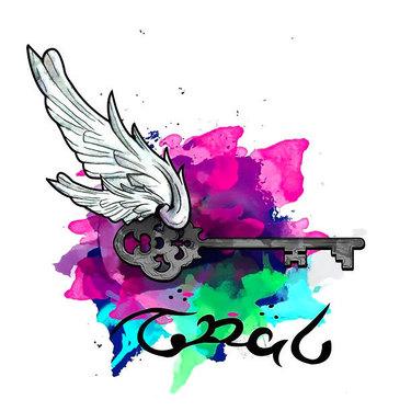 Watercolor Key Tattoo