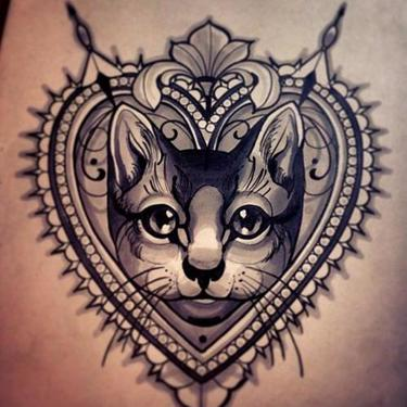 Best Cat Portrait Tattoo
