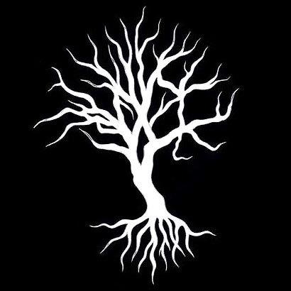 White Ink Tree Tattoo Design
