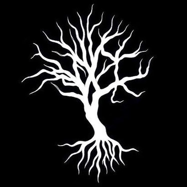 White Ink Tree Tattoo
