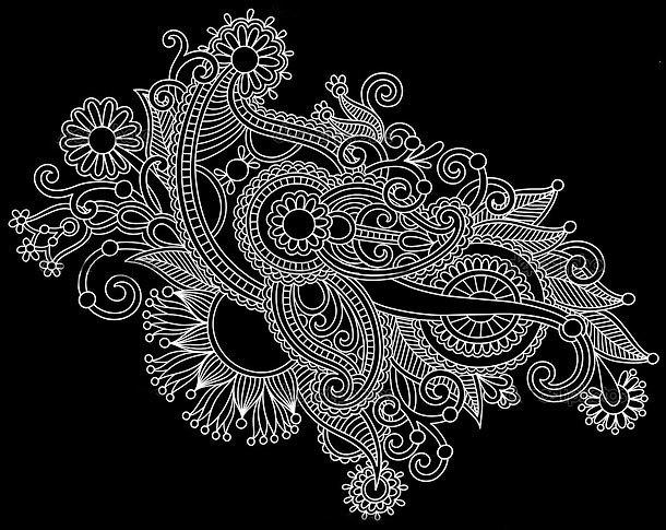White Ornate Tattoo Design