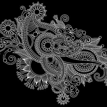 White Ornate Tattoo