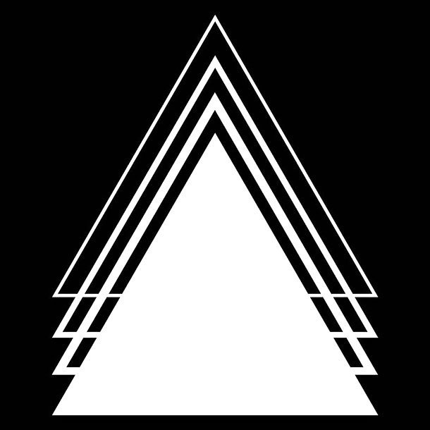 White Triangles Tattoo Design