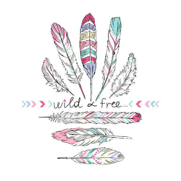 Wilf Free Feather Tattoo Design