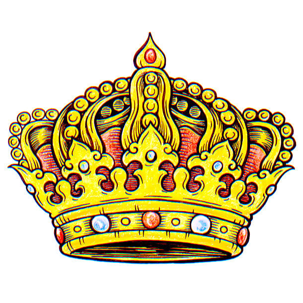 Yellow Crown Tattoo Design