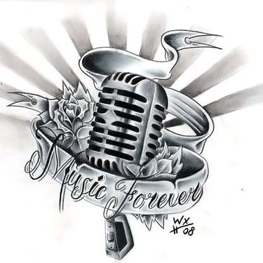 Old School Microphone Tattoo