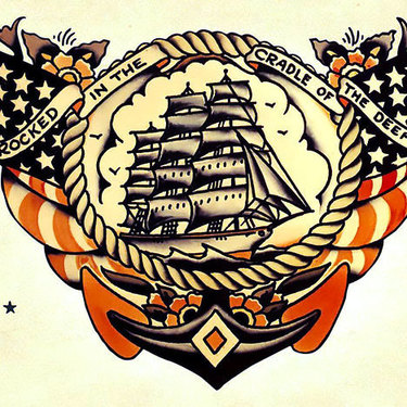 Old School Navy Tattoo