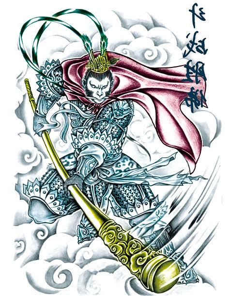 Oriental Warrior Tattoo Design