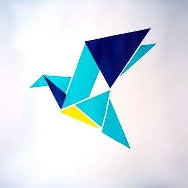 Origami Bluebird Tattoo